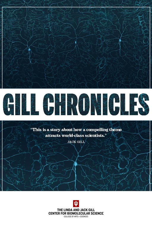 Image from the cover of The Gill Chronicles publication; artwork depicts neurons from Drosophila
