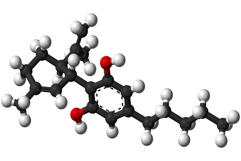 a model of the cannabidiol molecule